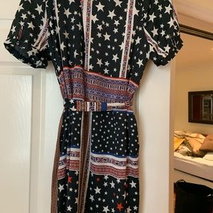 Avec Les Filles silk wrap dress NWT